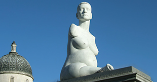 Pregnant - sculpture by Alison Lapper