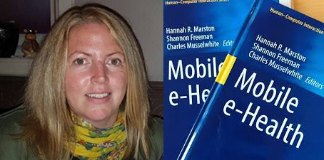 Dr Hannah Marston and her book Mobile e-Health